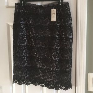 Black Skirt with lace overlay